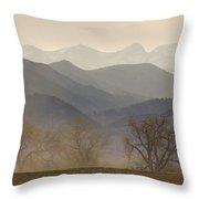 Boulder County Colorado Layers Panorama Throw Pillow