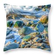Boulder Splash Throw Pillow
