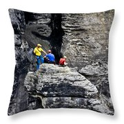 Bouldering Throw Pillow