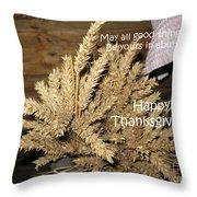 Bounty. Thanksgiving Greeting Card Throw Pillow