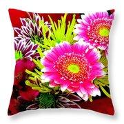 Bouquet De La  Passion Throw Pillow