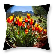 Bouquet In A Bubble Throw Pillow