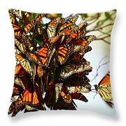 Bouquet Of Butterflies Throw Pillow