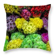 Bouquets  Throw Pillow