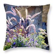 Bouquets On Display Throw Pillow