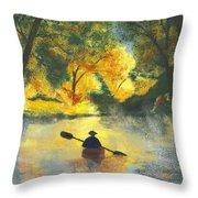 Bourbeuse River Sunrise Throw Pillow