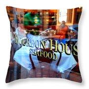 Bourbon House Throw Pillow