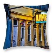 Bourbon Live - French Quarter Throw Pillow