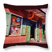 Bourbon Stree Shops Throw Pillow