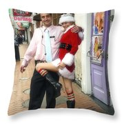 Bourbon Street In Daylight - Santa's Helper Throw Pillow