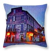 Bourbon Street In The Quiet Hours Throw Pillow