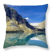 Bow Lake,alberta,canada Throw Pillow