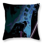 Bow To The Dark Side Throw Pillow