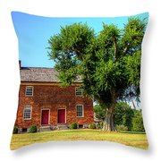 Bowen Plantation House Throw Pillow by Barry Jones