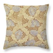 Bower Wallpaper Design Throw Pillow