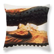 Bowermans Waffle Sole Design Throw Pillow by Photo Researchers
