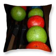Bowling Balls Throw Pillow