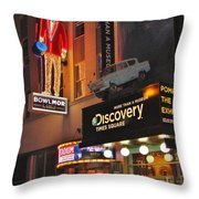 Bowlmor Lanes At Times Square Throw Pillow