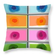 Boxed In Colors Throw Pillow