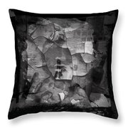 Boxed Note Throw Pillow