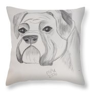 Boxer No Crop Throw Pillow by Maria Urso