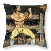 Boxing Champion, 1790s Throw Pillow