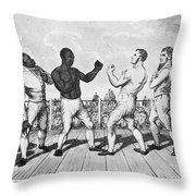Boxing: Cribb V. Molineaux Throw Pillow