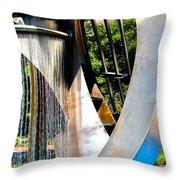 Boyd Plaza Fountain II Throw Pillow