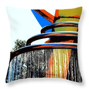 Boyd Plaza Fountain Throw Pillow