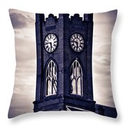 Boyertown Clock Tower Throw Pillow