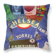 Boys In Blue Throw Pillow by Kevin Flynn