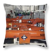 Bqm-74e Chukar Target Drones Stowed Throw Pillow