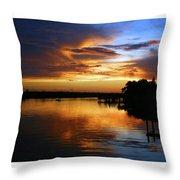 Braden River Sunset Throw Pillow