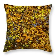 Branches Of Gold Throw Pillow