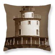Brandywine Shoal Lighthouse Throw Pillow