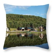 Brant Lake Reflections Throw Pillow