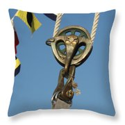 Brass Block With Flags Throw Pillow