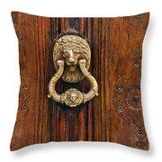 Brass Door Knocker Throw Pillow