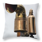 Brass Horn Throw Pillow