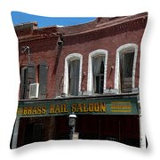 Brass Rail Saloon Throw Pillow