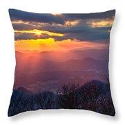 Brasstown Sunset Throw Pillow by Debra and Dave Vanderlaan