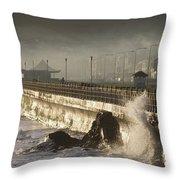 Bray Promenade, Bray, County Wicklow Throw Pillow