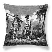 Brazil: Hunters, C1820 Throw Pillow