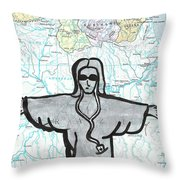 Brazil Throw Pillow by Jera Sky
