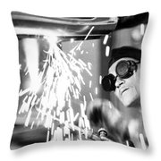 Brazil: Welder, 1961 Throw Pillow