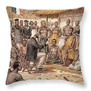 Brazza In Africa, 1880 Throw Pillow