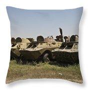 Brdm-2 Combat Reconnaissancepatrol Throw Pillow