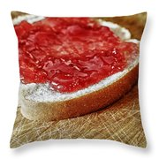 Bread And Jelly Throw Pillow