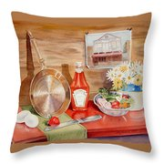 Breakfast At Copper Skillet Throw Pillow
