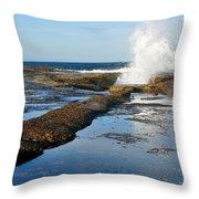Breaking Surf Throw Pillow